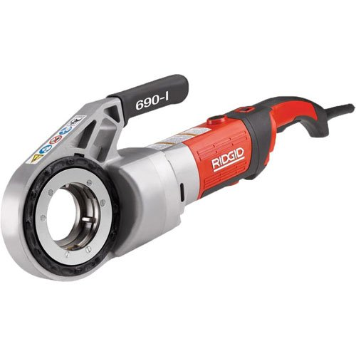 Ridgid Pipe Threader - RIDGID 44923 Model 690-I Hand-Held Power Drive Kit, Pipe Threading Machine and 1/2-Inch to 2-Inch 11-R NPT Pipe Threading Die Heads with Carrying Case for Threading Pipe