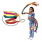 Revanak 12 PCS Rhythm Ribbon Dance Rainbow Ribbon Set for Kids