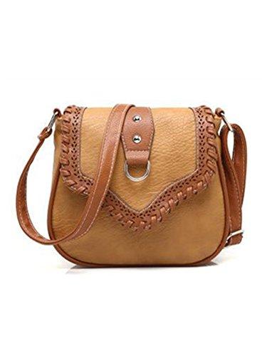 Gail Jonson Hollow Out Small Shell Women Messenger Bags Women Leather Handbag Preppy Style Fashion Crossbody Women Bag Mustard 20X3X18Cm