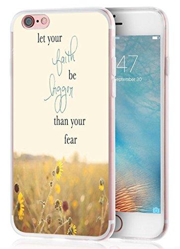 Iphone 6 Plus Case, Apple Iphone 6S Plus Case christian quotes bible verse Protective TPU Capa