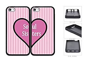 MMZ DIY PHONE CASESoul Sisters Pink Heart Set Rubber Silicone TPU Cell Phone Case Apple ipod touch 5