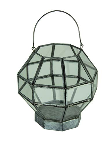 Audrey's Metal and Glass Octagon Shape Candle Lantern ()