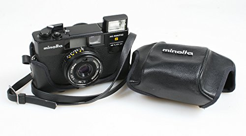MINOLTA HI MATIC S RANGEFINDER CAMERA WITH CASE AND STRAP, WORKS GREAT