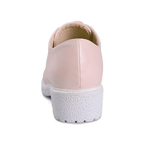 Lave Odomolor Hæler up Round Blonder Rosa 35 Solide sko Kvinners Pu toe Pumper qZxI8w0Zr