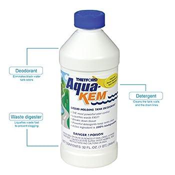 Thetford Aqua-kem Rv Holding Tank Treatment - Deodorantwaste Digesterdetergent 32 Oz 09852 1