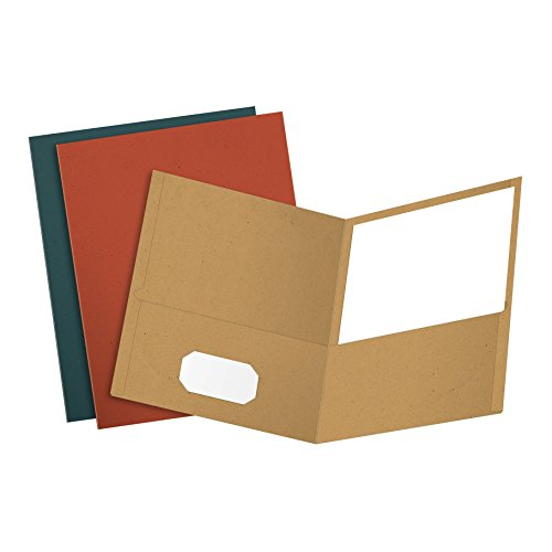 EarthWise by Oxford Twin Pocket Folders, Letter Size, Assorted Colors, 25 per Box (78513)
