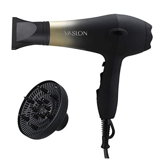 VASLON 1875W Professional Salon Hair Dryer Nano Ionic &Negative Ionic Blow Dryer AC Motor Fast Dry Low Noise Hair Blow Dryer with Diffuser & Concentrator 2 Speed and 3 Heat Setting - 419D7PHpbOL - VASLON 1875W Professional Salon Hair Dryer Nano Ionic &Negative Ionic Blow Dryer AC Motor Fast Dry Low Noise Hair Blow Dryer with Diffuser & Concentrator 2 Speed and 3 Heat Setting