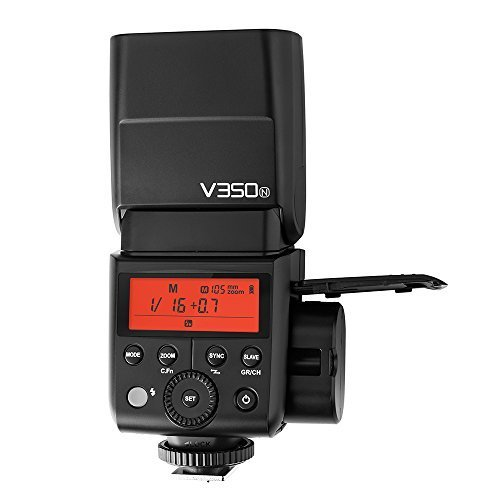 Godox V350 Series TTL 2.4G Li-ion Camera Flash with Built-in Rechargeable Battery for Canon/Nikon/Sony/Olympus /Fujifilm (V350-N for Nikon)