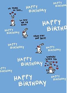 Geburtstagskarte Mit Hasen Motiv Happy Birthday Niedliche