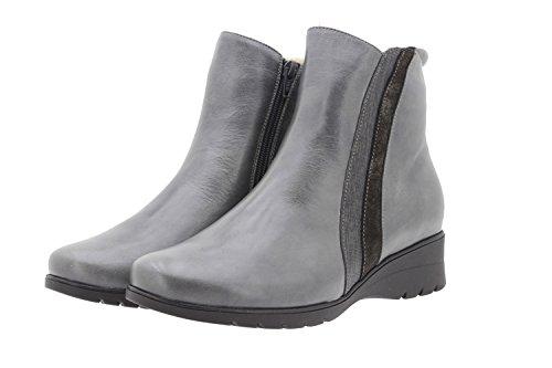 Confortables Amples Piesanto 9973 Botte Femme Chaussure Gris Cuir En Confort Aq6w07AS