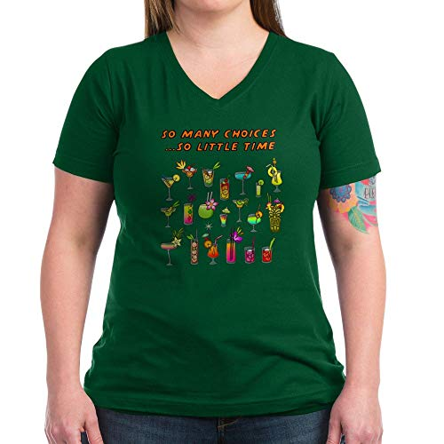 (CafePress Happy Hour T Shirt Womens Cotton V-Neck T-Shirt)