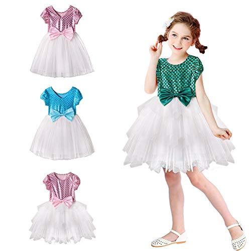 2a393eb3b6 Acecharming Mermaid Dress for Girls, Little Ariel Princess Costume Girls  Fancy Party Dresses