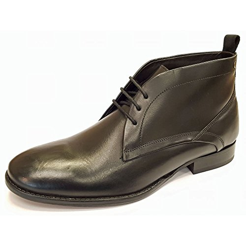 Base London Mens Deacon Waxy Chukka Leather Lace Up Smart Ankle Boots