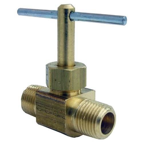 Straight Male Pipe Thread - LASCO 17-1801 1/8-Inch Male Pipe Thread by 1/8-Inch Male Pipe Thread Straight Brass Needle Valve