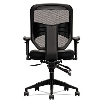 Basyx VL532MM10 VL532 Series Mesh High-Back Task Chair, Mesh Back, Padded Mesh Seat, Black