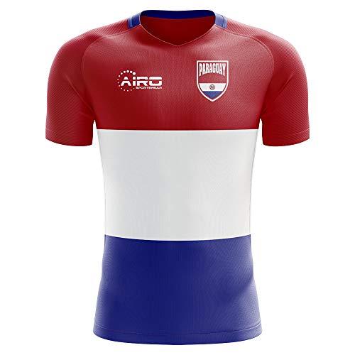 Paraguay Soccer T-shirt - Airo Sportswear 2018-2019 Paraguay Home Concept Football Soccer T-Shirt Jersey