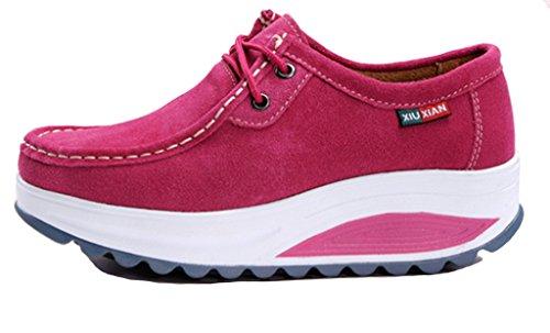 GFONE - Zapatos de tacón  mujer fucsia