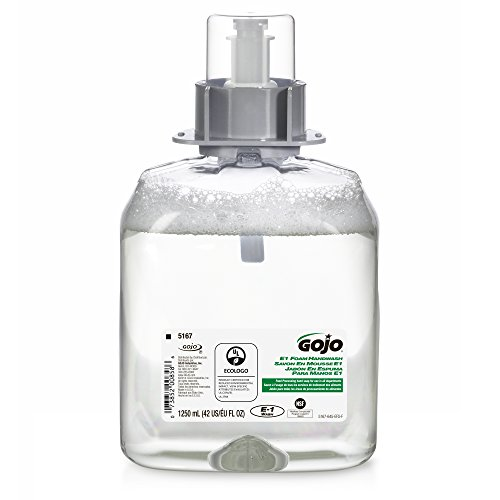 GOJO 516103CT FMX-12 Foam Hand Wash, Cranberry, FMX-12 Dispenser, 1250mL (Foam Hand Wash Soap Pump)