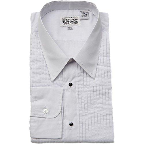 (Men's Laydown Collar White Tuxedo Shirt )