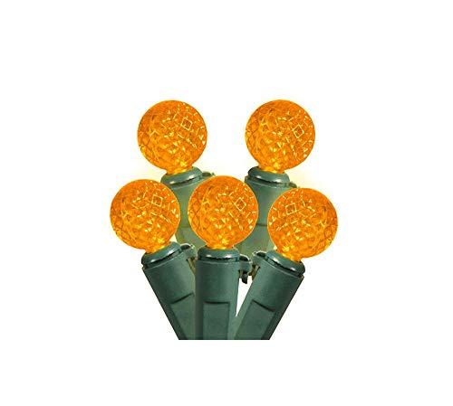 Led Strings G12 Light (Set of 50 Amber Yellow LED G12 Berry Christmas Lights 4