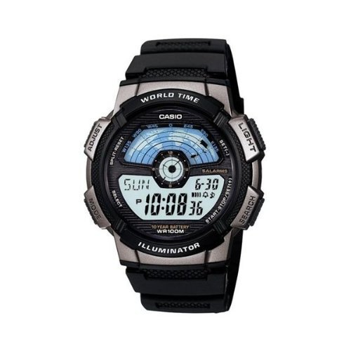 Casio Gents World Time Chronograph Strap Watch