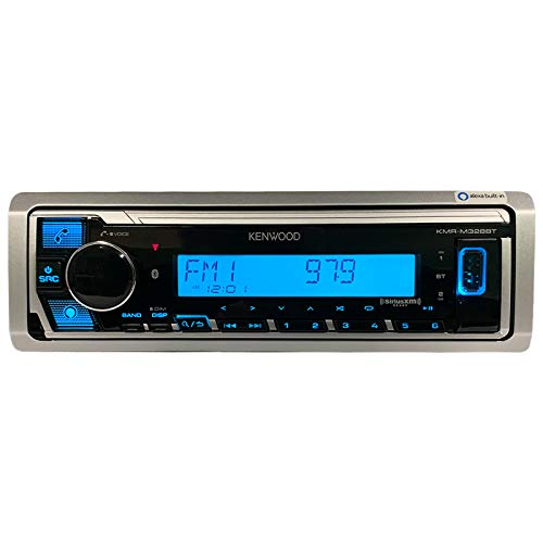 🥇 Kenwood KMR-M328BT Marine Digital Media Receiver with Alexa and Built in Bluetooth