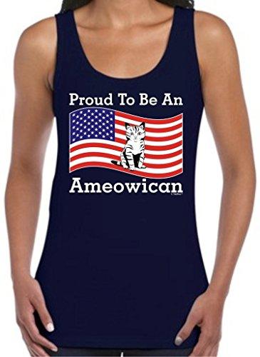 Ameowican American Juniors Tank Top