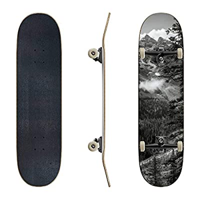 EFTOWEL Skateboards Banff National Park Alberta Canada Mountain Stock Pictures Royalty Classic Concave Skateboard Cool Stuff Teen Gifts Longboard Extreme Sports for Beginners and Professionals : Sports & Outdoors