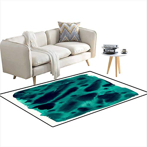 Extra Large Area Rug Green Watercolor Texture - Rug Somerset Green