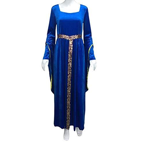 Adult Women's Lady Guinevere Blue Medieval Renaissance Costume HC-317