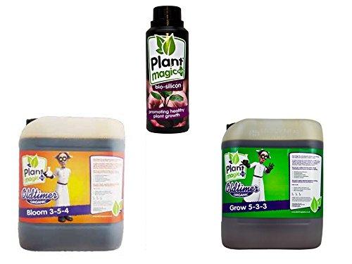 Plant Magic Old Timer Bloom 5Liter & Old Timer Grow 5Liter & Plant Magic Bio Silikon 1Liter