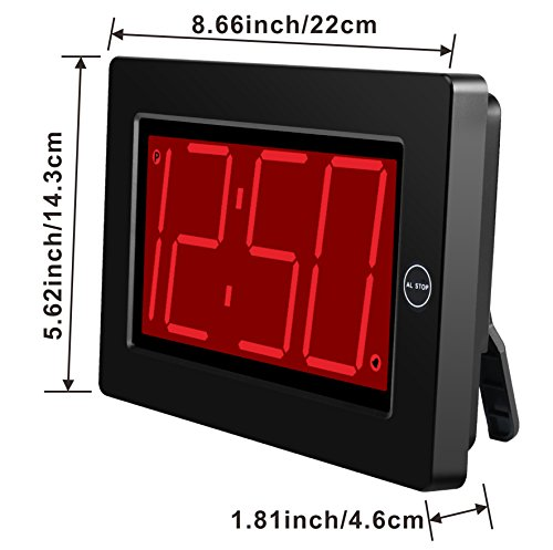 Kwanwa-Digital-LED-Wall-Clock-with-3-Large-Display-Battery-OperatedPowered-Only