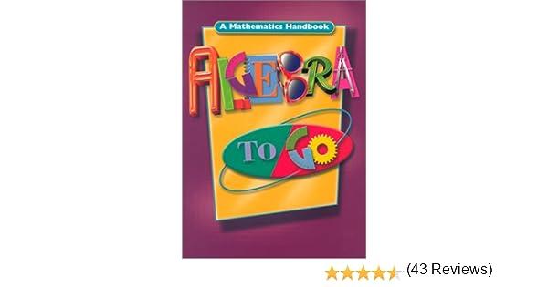 Algebra to Go: A Mathematics Handbook: GREAT SOURCE: 9780669471519 ...