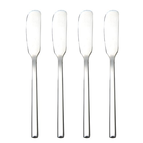 IMEEA 4-Piece Classic Spreaders, Bistro Butter Knife, Stainless Steel Blades, Set of 4 (4, 6.5inch)
