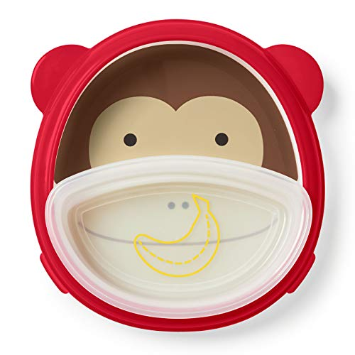 - Skip Hop Baby Plate and Bowl Set, Monkey/Red/Brown