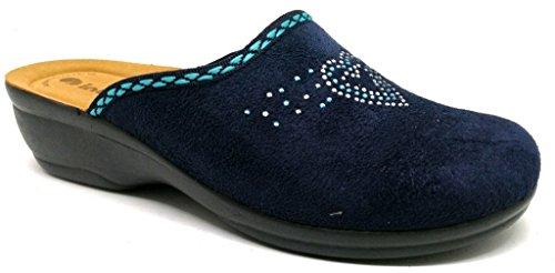 Inblu pantofole ciabatte invernali da donna art. BJ-69 blu