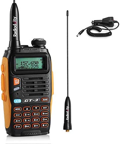 Baofeng Pofung GT-3TP Mark-III Two-Way Radio Transceiver, Dual Band 136-174 400-520 MHz Power Two-Way Radio,black
