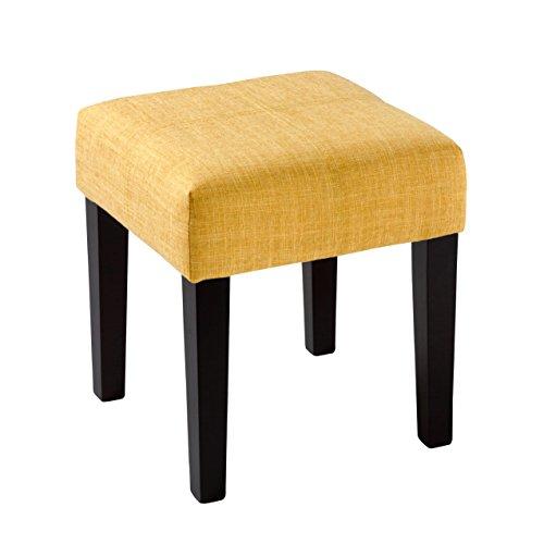 CorLiving LAD-288-O Antonio Ottoman Bench, Yellow