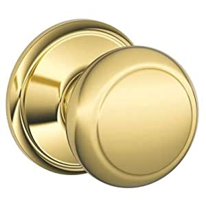 Schlage F10 And Andover Passage Door Knob Set From The F