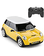 Mini Cooper RC CAR, RASTAR 1:24 BMW Mini Cooper S Remote Control Vehicle Toy Car for Kids, Yellow