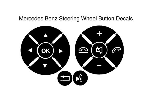 mercedes benz radio and steering wheel vinyl decal repair