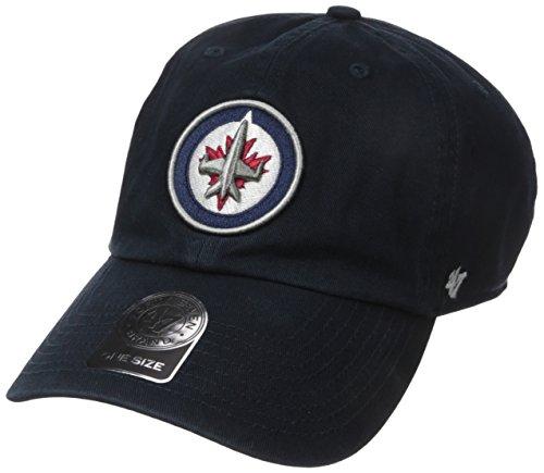 Jets Winnipeg Hat - NHL Winnipeg Jets Men's Clean Up Cap, Navy, One Size
