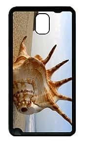 fun cover Sea Shell Beach TPU Black case/cover for samsung galaxy note 3 N9000