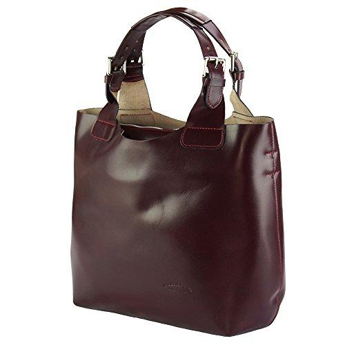 Market 218 Leather Bordò Florence Mano Vera Borsa Beatrice In Pelle F5CSwq