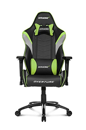 AKRacing Overture Series Super-Premium Gaming Chair with High Backrest, Recliner, Swivel, Tilt, Rocker and Seat Height Adjustment Mechanisms with 5/10 warranty Green For Sale
