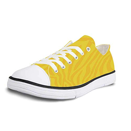 (Canvas Sneaker Low Top Shoes,Zebra Print Zebra Skin Wild Animal Print Pattern with Vivid Colors Artwork Print Decorative Women 11/Man 8)