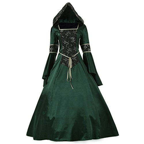 B Costumes Fancy Dress (CosplayDiy Women's Medieval Hooded Fancy Dress Victorian Costume B M)