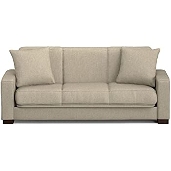 Handy Living Puebla Convert-a-Couch in Barley Tan Linen