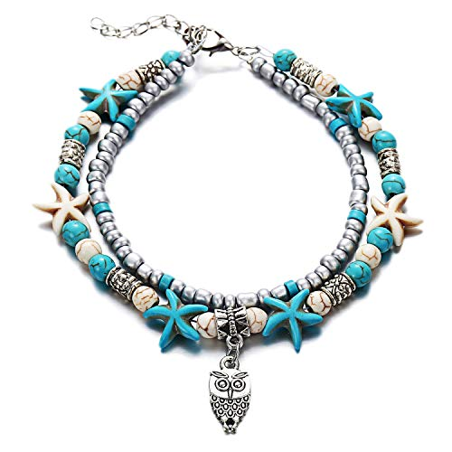 Multilayer Beach Anklet 1pcs Charm Beautifully Ocean Wave sea Turtle ect Pendant for Women Bracelets Anklet