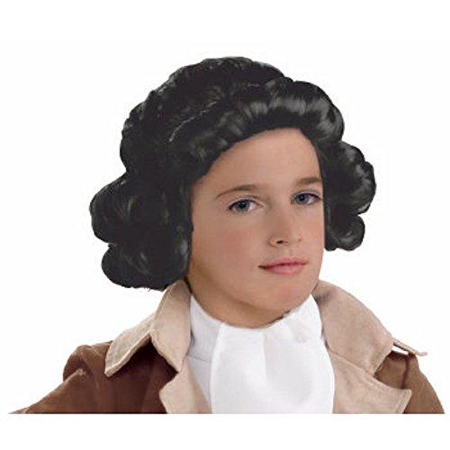 Forum Novelties 78941 Kids Colonial Boy Wig, One Size, Black, Pack of 1 ()